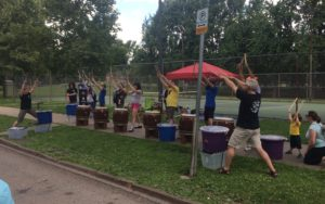 taiko lesson at Open Streets